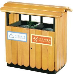 玉林公园垃圾桶-哪里有卖品质好的木质垃圾桶