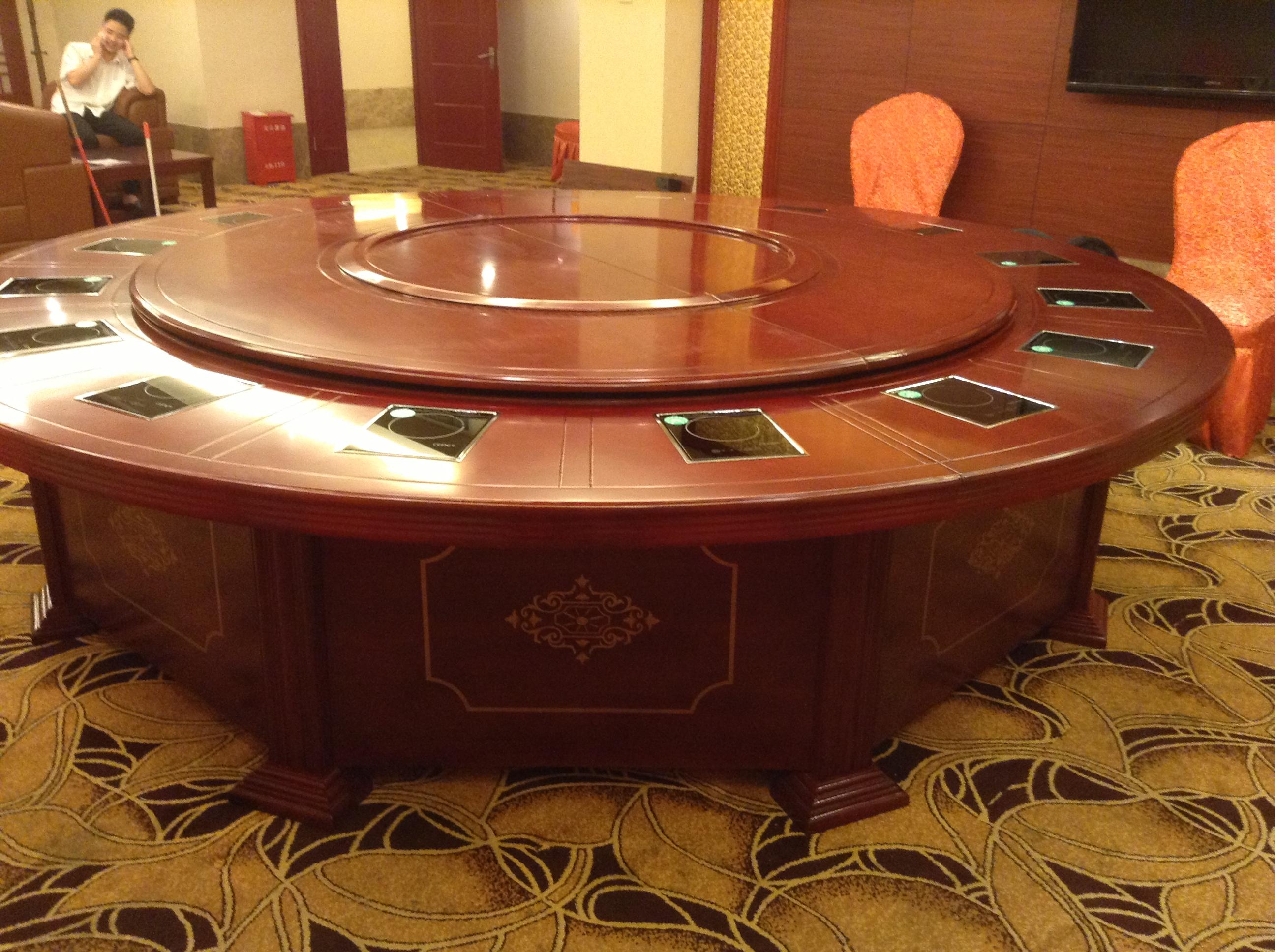 福州火锅桌椅 电动桌椅大理石餐桌椅图片