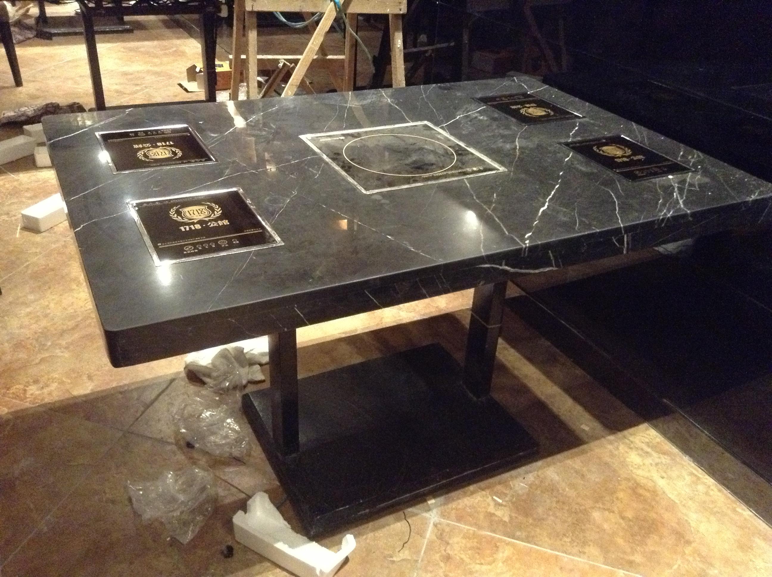 福州火锅桌椅 电动桌椅大理石餐桌椅
