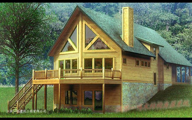 现代木结构别墅