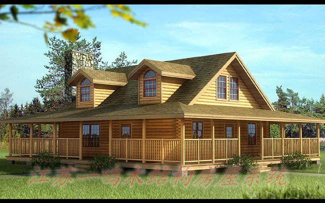 木制房屋风景图