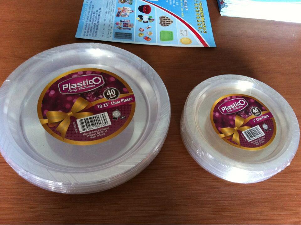 PS透明全新环保塑料食品碟