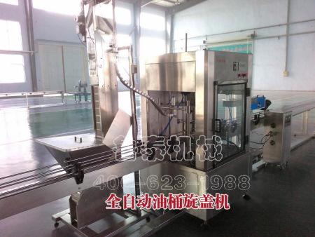 润滑油灌装生产线_全自动油桶旋盖机