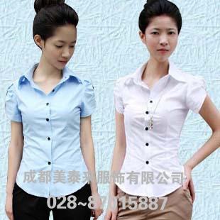成都衬衫定做 短袖纯棉衬衫 女式衬衫休闲衬衫女装