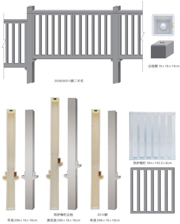 斜防护栅栏模具