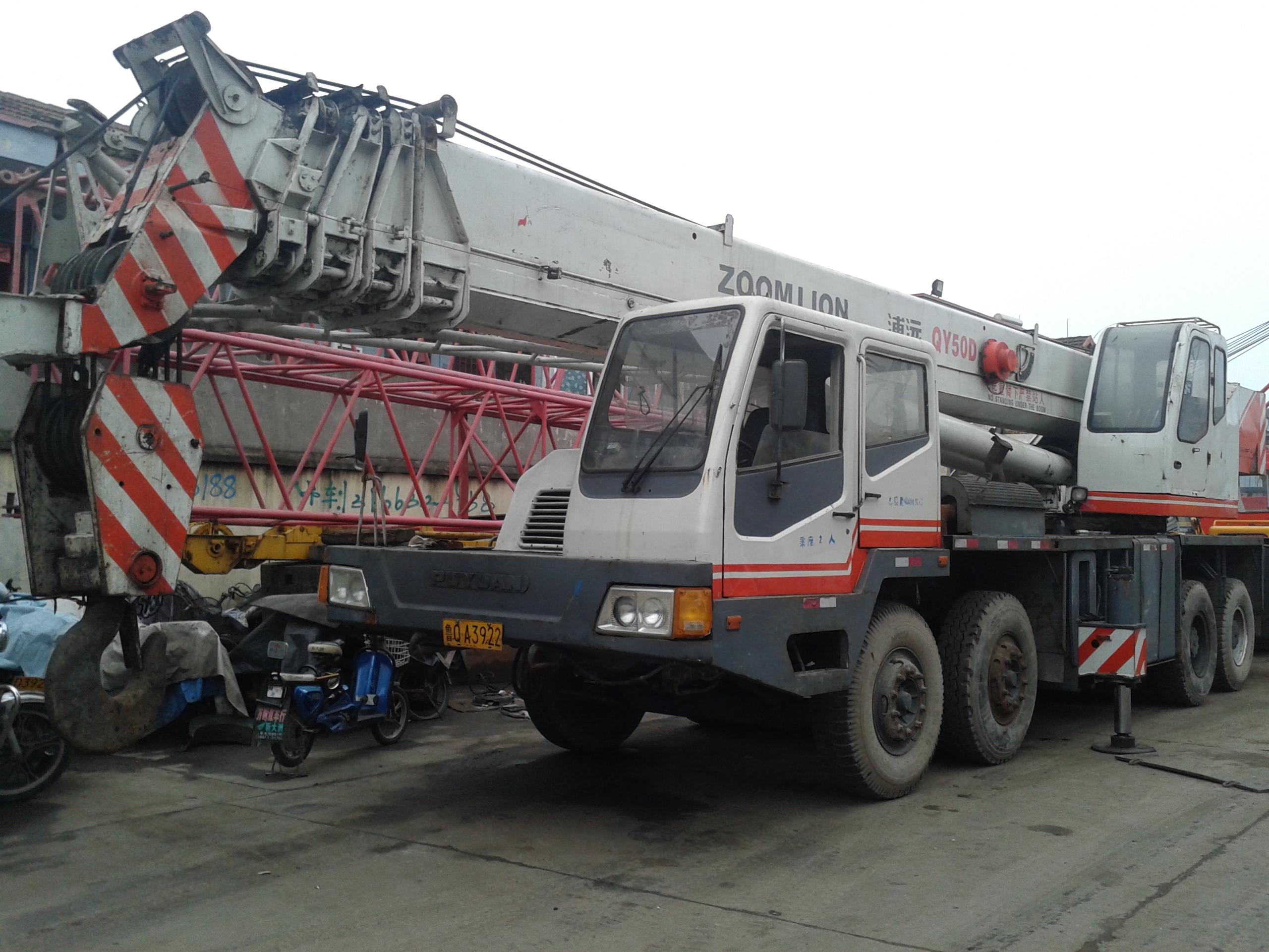 上海价格划算的二手50吨汽车起重机哪里有:中联重科50