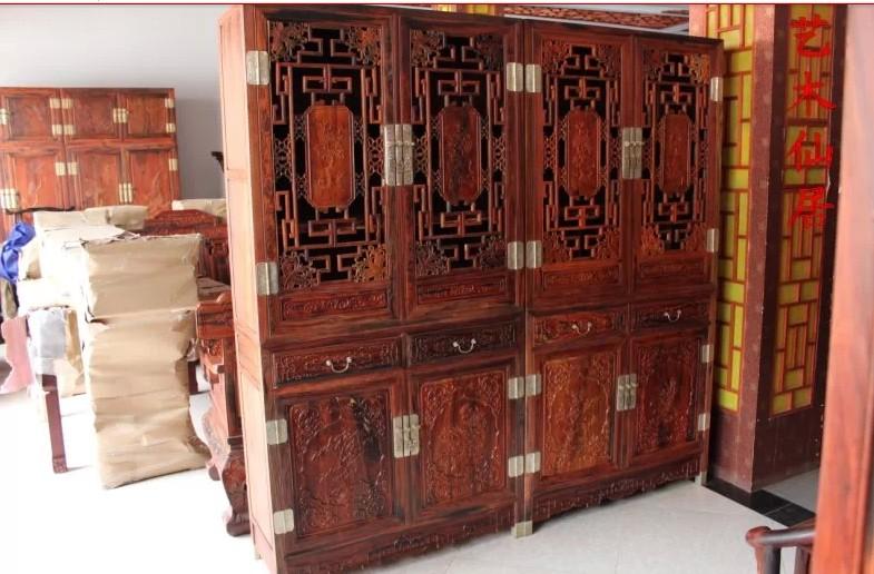 实木书柜组合书架书橱中式仿古家具