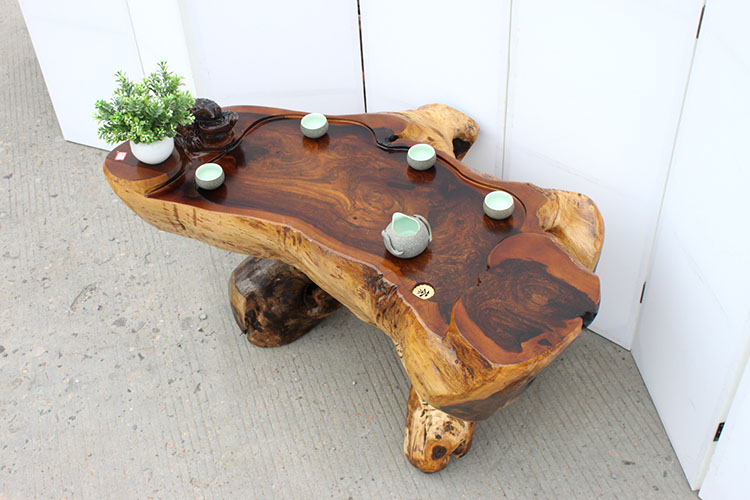 天然树根雕茶几茶桌鸡翅木原木雕刻茶水桌整体茶台