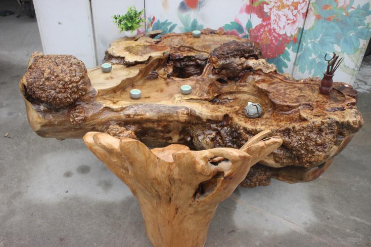 实木根雕茶根雕茶桌茶海茶台天然树根黄金樟