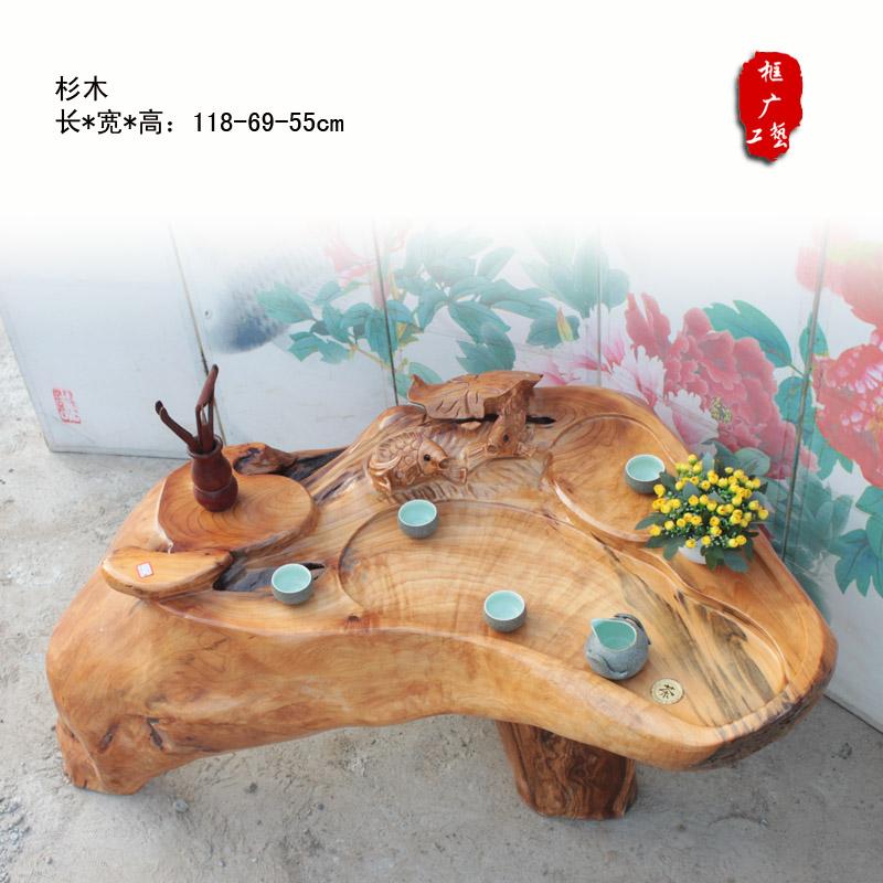 特价杉木根雕茶几茶桌 红木树根雕木雕刻功夫茶桌茶台 框广工艺