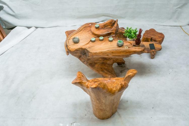 框广杉木天然整体根雕茶几实木茶台