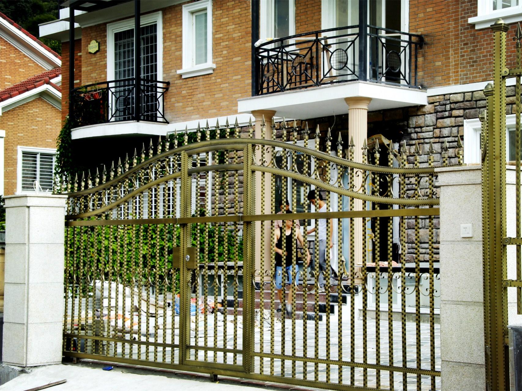 镀铜别墅院墙门——质量好的别墅院门推荐 不锈钢镀铜门 欧式不锈钢门