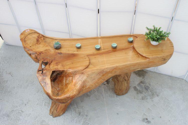 根雕茶几 天然原木树根茶桌