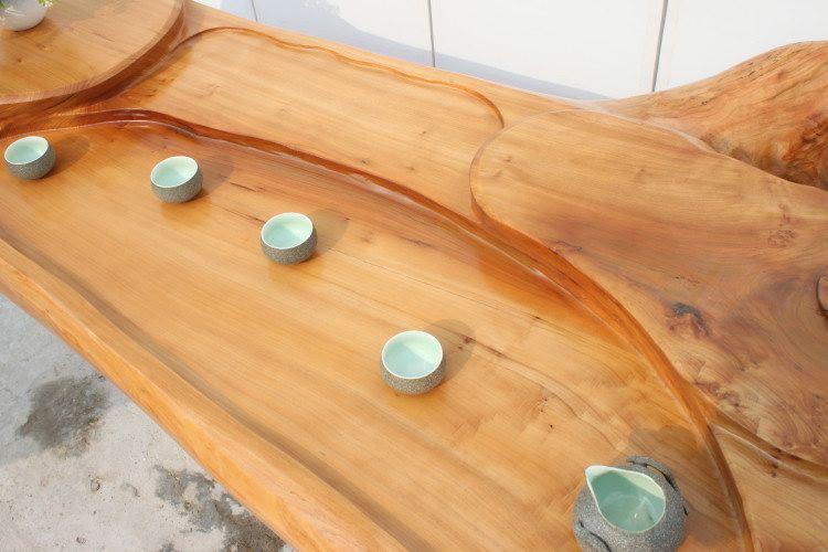 杉木茶台 根雕茶几 天然原木树根茶桌
