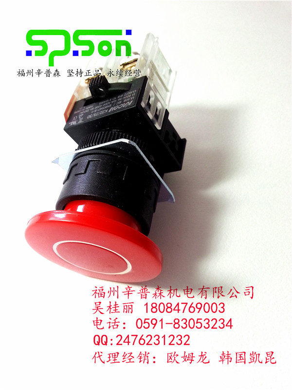 K22-21R10-N4凱昆0按鈕開關 Φ22mm