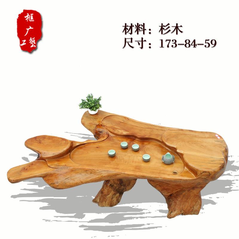 鸡翅木根雕茶几 弥勒佛茶桌 红木茶桌 客厅树根茶几 茶台茶海