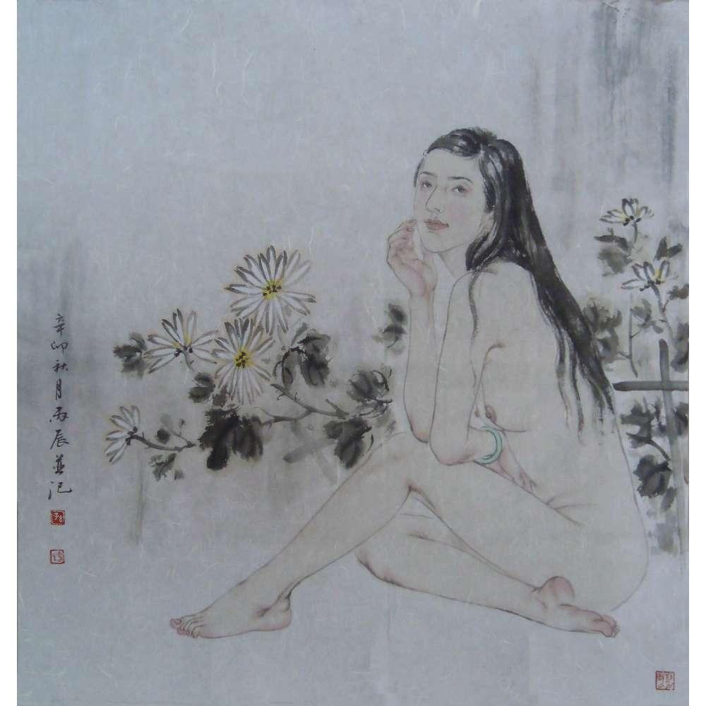 孙震生人物画