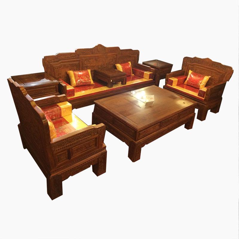 红木沙发价格_优质的刺猬紫檀汉宫春晓沙发七件套推荐给你