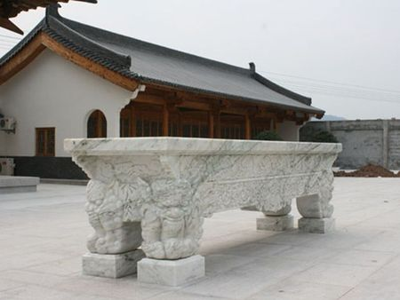 寺庙古建 石雕供桌