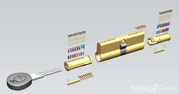 普通锁芯结构图解