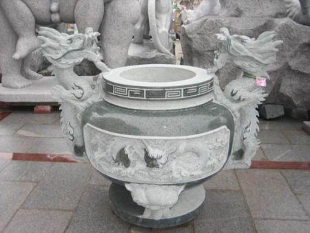 寺庙古建 石雕浮雕 香炉石鼎