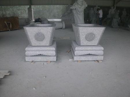 园林雕刻 石雕花钵 天水钵