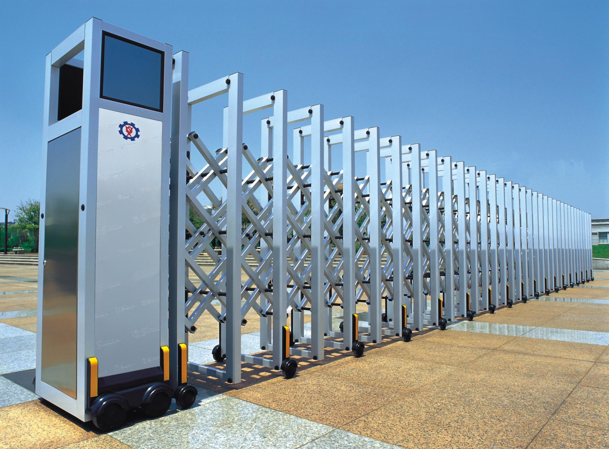 西安森腾专业生产供应电动伸缩门 灞桥电动门伸缩门