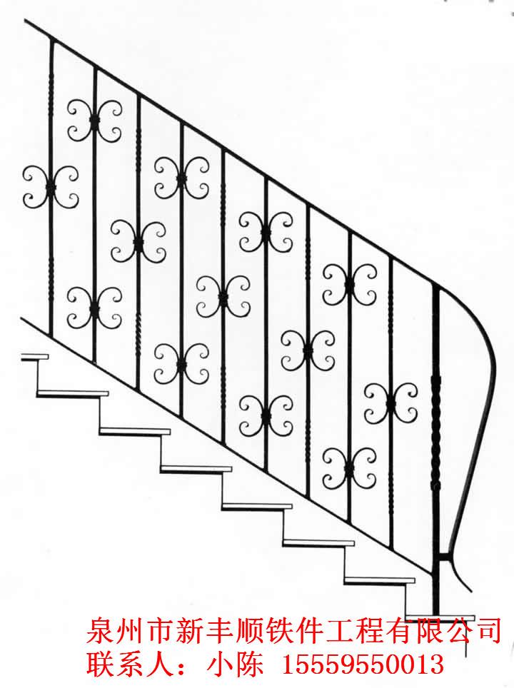 铁艺扶手楼梯 铁艺防盗窗-泉州市新丰顺铁件工程有限