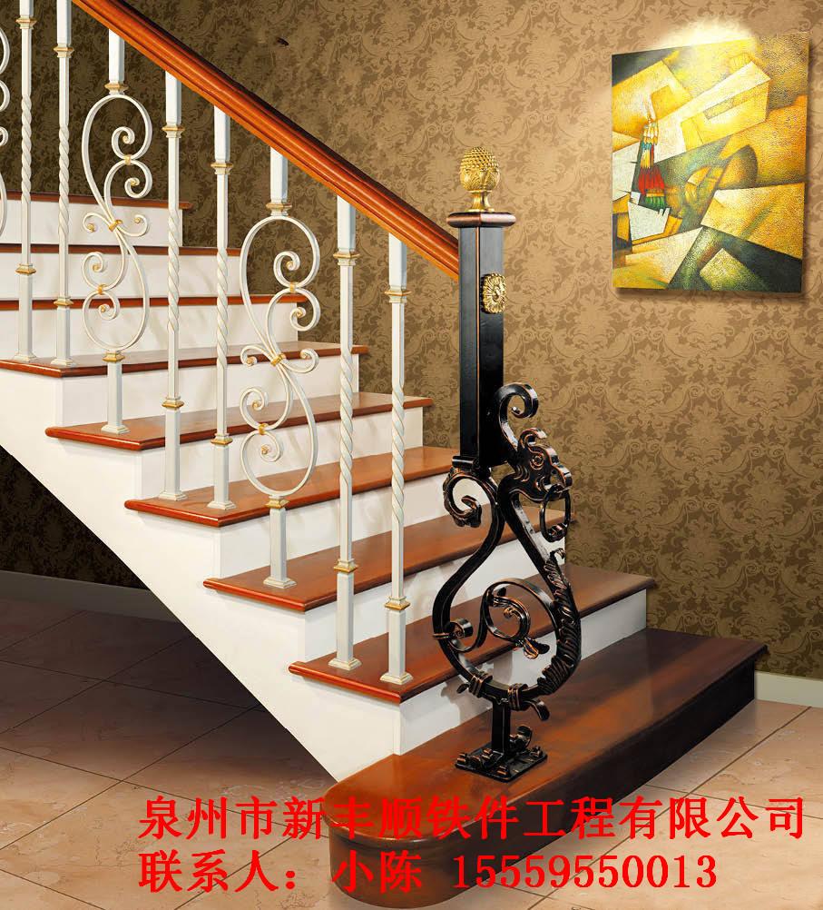 铁艺楼梯扶手多少钱_铁艺扶手楼梯