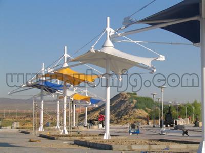 共汽车站膜结构-甘肃新博成膜结构技术有限公司