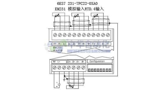 em231热电阻模块接线图