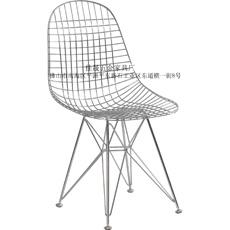 佛山家具网格餐椅/经典网椅/电镀铁线餐椅-佳晟五金家具厂