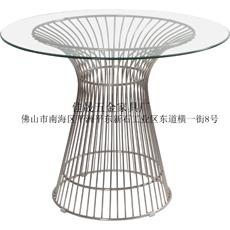 网格玻璃餐台|金属电镀餐台Harry Bertoia
