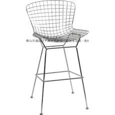 质量硬的网格吧椅推荐给你    -酒店餐椅钻石金属椅