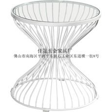 铁线玻璃茶几/铁丝桌/不锈钢玻璃桌-佳晟家具五金厂
