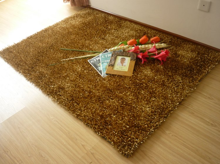 【昕佳琪】天津厂家批发家居客厅茶几卧室出口长毛纯色中国结地毯