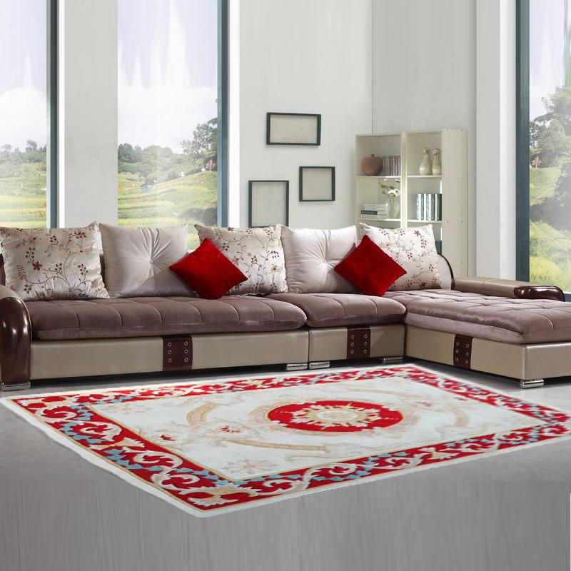 【昕佳琪】天津廠家純手工槍刺新西蘭羊毛膠背地毯