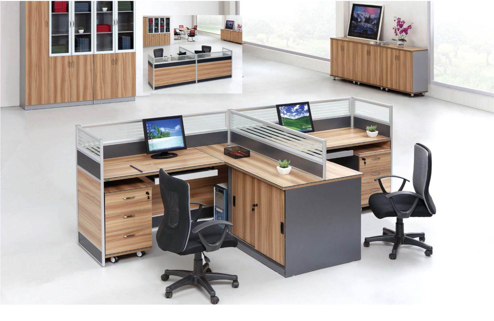 北京办公家具职员办公桌4人组合桌 屏风隔断桌组合员工桌