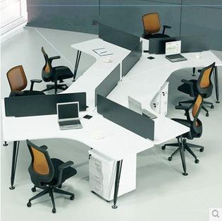 厦门办公家具钢架组合桌职员办公桌 员工组合桌电脑桌