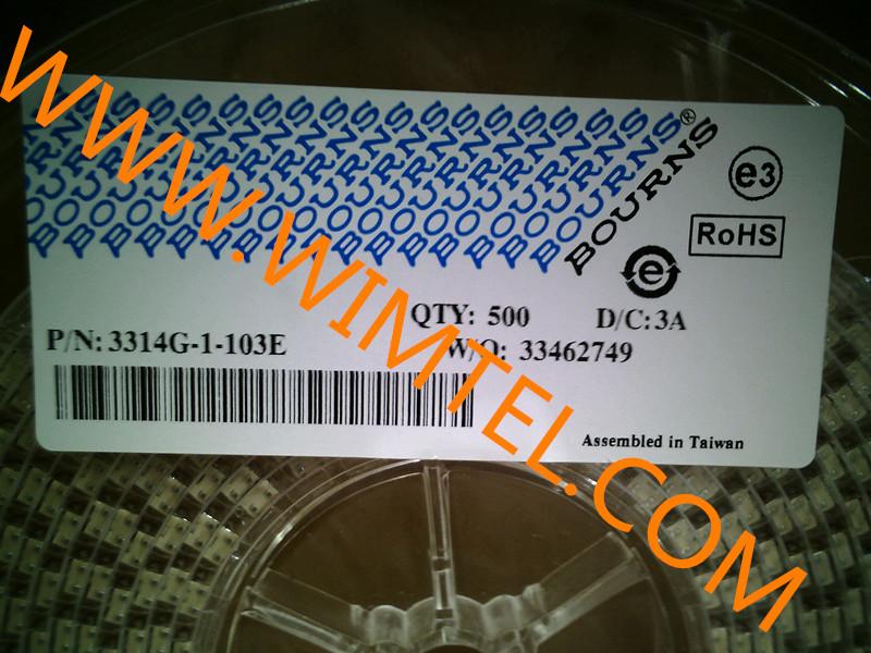供应深圳物超所值的进口3314G系列电位器:西城进口3314G系列电位器