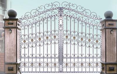 欧式不锈钢本色系列(庭院大门)图片