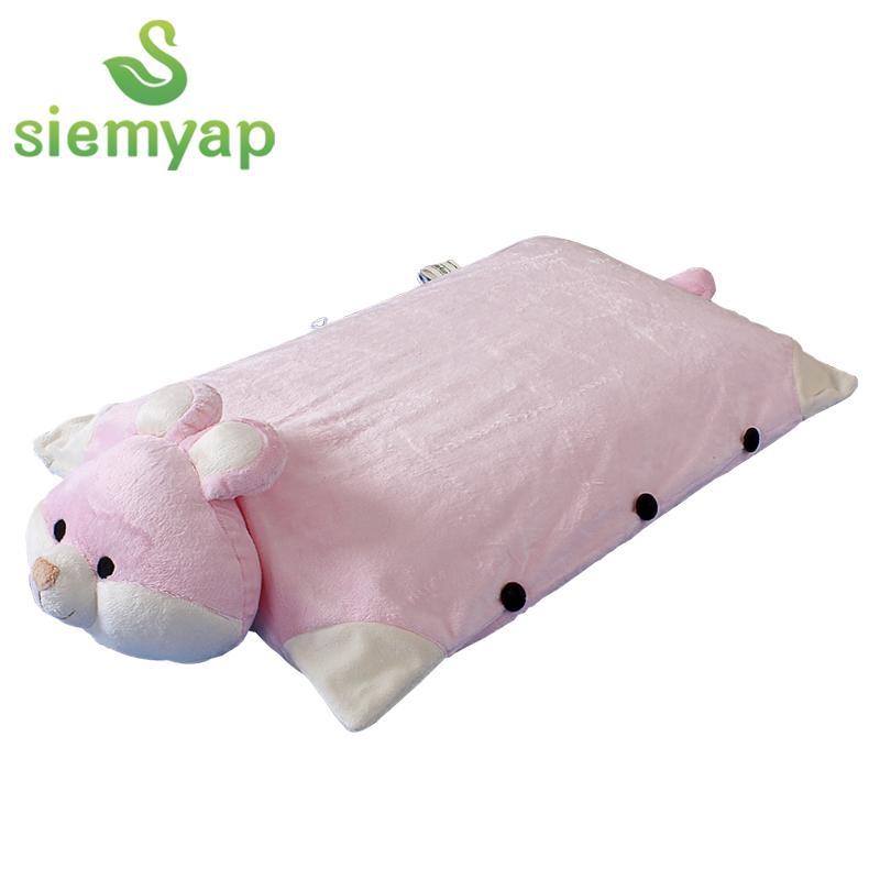 天然乳胶枕芯 公仔抱枕 卡通靠垫 泰国进口 乳胶枕 公仔象
