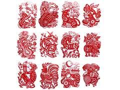 西安剪纸--十二生肖剪纸大幅卷轴剪纸清明上河图