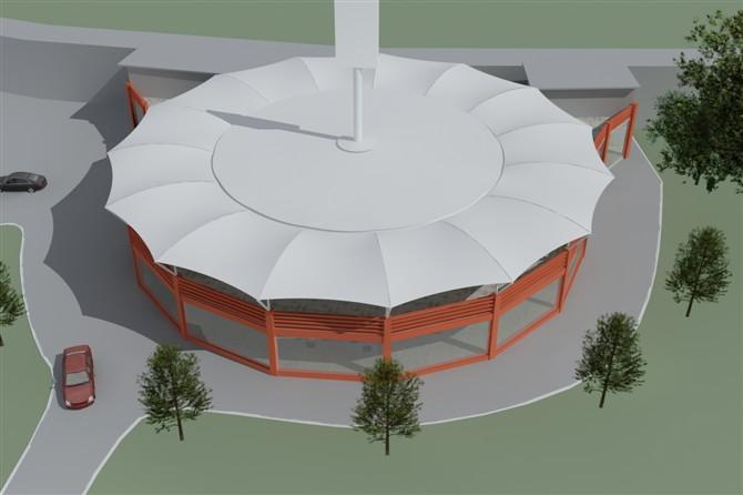 屋顶膜结构建筑平面图|飞翔膜结构提供的屋顶膜结构建筑哪里好