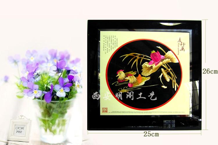 水晶陕西麦秆画|西安优良明阁水晶镜框麦秆画供应出售