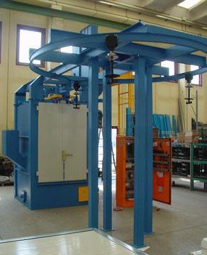 专业生产吊钩式抛丸机/BY4-420旋转吊钩式抛丸机