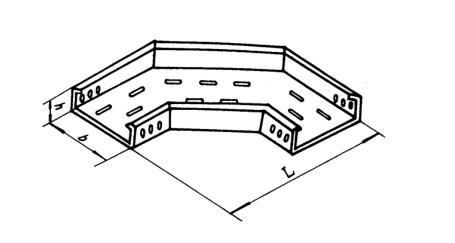 有孔托盘式电缆桥架:价格优惠的GQ1-P-02型托盘式水平弯通北京口碑好的公司供应