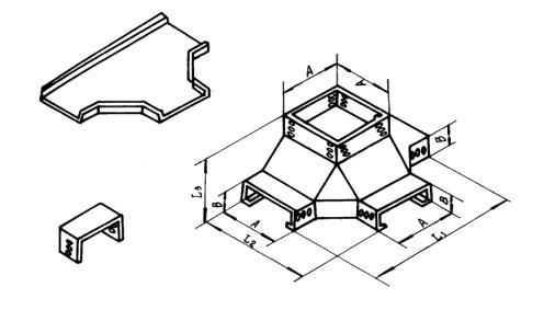 价格合理的GQ1-C-04B型槽式垂直四通_买专业GQ1-C-04B型槽式垂直四通,就选中马电缆桥架