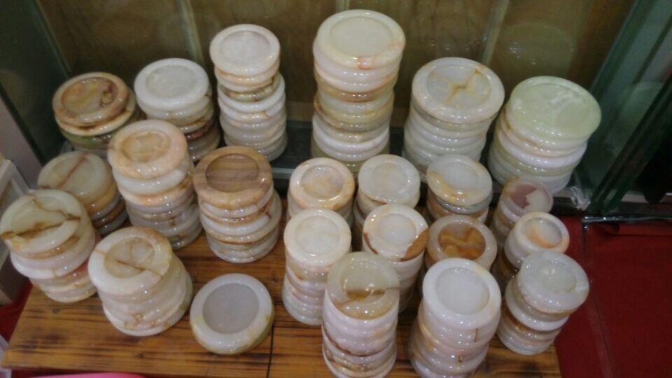玉器礼品 正品阿富汗白玉烟灰缸摆件 色泽圆润 玉石批发