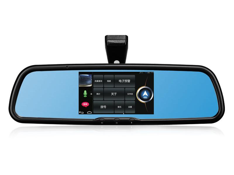 先科S8汽车后视镜行车记录仪导航仪一体机 安卓系统